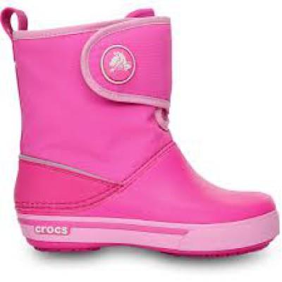 Crocs rózsaszín-tépőzáras csizma c8fc33c463