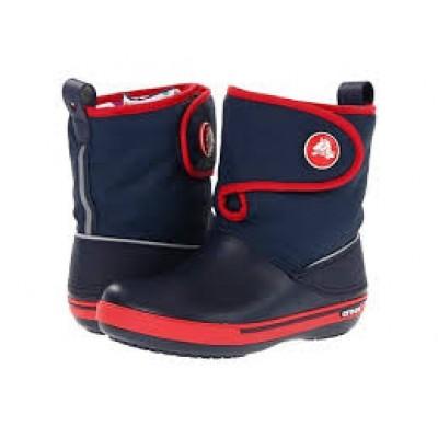 Crocs kék-piros-tépőzáras csizma f6560ad74b