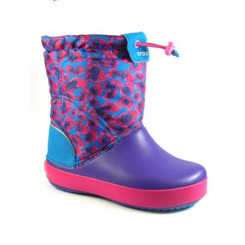 Crocs lila-pink-összehúzós csizma af23f2b209